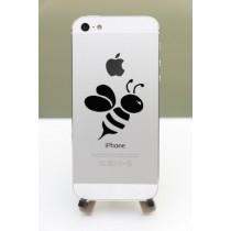 Lini Lot de 2 stickers en forme d'abeille pour iPhone, iPad mini, iPad, MacBook, Pro Noir