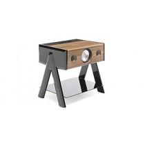 Station HiFi Bluetooth La Boite Concept Cube 2.1 Woody Noir et noyer
