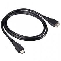 Zheino 1M USB 3.1 Type C To Micro B USB 3.0 Câble de données Homme plomb Sync câble de chargement réversible Design