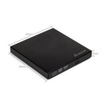 Salcar - Lecteur CD-RW / DVD-RW externe USB 2.0 DVD/CD Super Drive et graveur DVD Universel DVD SuperDrive (puce Original avec une hauteur de 12,7 mm) pour Apple Macbook, Macbook Pro, iMac, MacBook Air ou autre ordinateur portable / de bureau par exemple