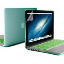 GMYLE 3 in 1 Menthe Coque pour Macbook Pro Retina 13 pouces - Protection Clavier (US Layout) - Protecteurs de moniteur (Ne convient pas pour MacBook Pro 13)