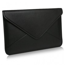 BoxWave Étui en cuir Elite 33 cm Apple MacBook Air (2010) Messenger Pochette - Coque Housse de transport en cuir synthétique avec enveloppe unique design manches - 33 cm Apple MacBook Air (2010) et coques (Noir)