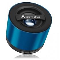 kwmobile Mini haut-parleur Bluetooth sans fil de couleur bleu, avec carte Micro SD, radio FM et microphone pour Apple iPhone, iPad, iPod ; Samsung Galaxy S2, S3, S4, S5,Tab, Note, Smartphone, Tablette avec chargeur