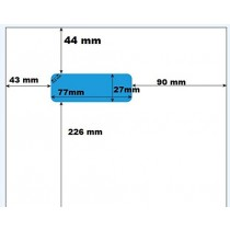 500 FEUILLES AVEC ÉTIQUETTE INTÉGRÉE pour PRESTASHOP - modèle1 - Feuille A4 avec étiquette autocollante détachable incorporée 77 x 27 mm. Pour éditer sur prestashop ( template de factures par défaut de prestashop 1.5.2.0 ) votre bon de livraison et l'étiq