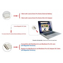 "Lizone® Magsafe 2 DC câble pour MacBook Air, MacBook Pro, MacBook Laptops ""T"" DC-IN, Lizone Extra Pro Externe/Batterie DC-Port (Magsafe 2)"