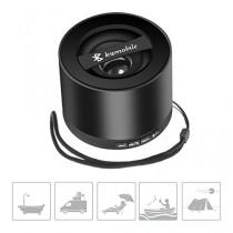 kwmobile Mini haut-parleur Bluetooth sans fil de couleur noire, avec carte Micro SD, radio FM et microphone pour Apple iPhone SE / 5 / 5S Noir