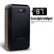 iMuto 20000mAh Batterie Externe Chargeur Portable Power Bank, état de chargement visible avec un écran LED, chargement rapide, compatible pour les téléphones portables iPhone 6, 6s Plus, 5S, 4S, iPad Air 2, mini 3, Pro ,Samsung Galaxy Note3, 4, 5, S4, S5,