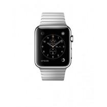 Apple Watch Montre connectée avec boîtier en acier inoxydable de 42 mm et bracelet à maillons