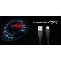 ShineZone Tpye C Câble pour MacBook 12, Haute-Vitesse, Transférer les Données Câble Type C (USB-C) vers USB 3.0 1*Mètre (Noir)