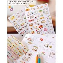 NOVAGO® 6 planches de stickers autocollants chats mignons pour décorer vos smartphones, tablettes , PC, MacBook , agenda , mug ou autres objets
