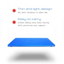 Élégant et léger ultra mince protection sleeve Housse Etui Housse de protection dur portable affaire sac coquille dure Etui Apple MacBook Air 11.6 pouces (numéro de modèle: A1370/A1465) bleu foncé