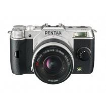 """Pentax Q7 Appareil photo hybride 3"""" (7,62 cm) 12 Mpix Argent + Objectif 5 - 15 mm"""