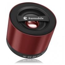 kwmobile Mini haut-parleur Bluetooth sans fil de couleur rouge, avec carte Micro SD, radio FM et microphone pour Apple iPhone, iPad, iPod ; Samsung Galaxy S2, S3, S4, S5,Tab, Note, Smartphone, Tablette avec chargeur