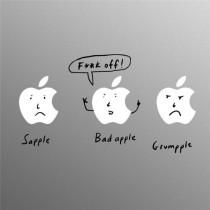 3 Pommes Decal pour Apple MacBook Pro par Jason Chapman
