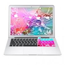 kwmobile Protection pour clavier QWERTZ en silicone pour Apple MacBook Air 13''/ Pro Retina 13''/ 15'' en violet turquoise