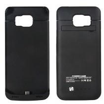 Heliomax 4200mah Batterie externe housse coque Noir power bank case battery pour Samsung Galaxy S6 G900 G900F
