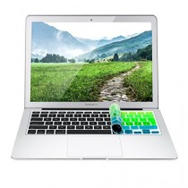 kwmobile Protection pour clavier QWERTZ en silicone pour Apple MacBook Air 13''/ Pro Retina 13''/ 15'' en vert bleu