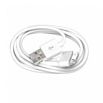A-discovery - Cable data Micro USB 1 mètrepour IPhone 4, Couleur: Blanc