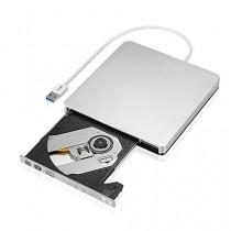 VicTsing Graveur Lecteur CD/DVD-RW Lecteur Optique Externe pour Apple MacBook, MacBook Pro, MacBook Air ou d'autres PC portable/Ordinateurs de bureau avec Câble USB3.0--Argent