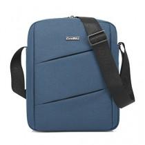 CoolBell MacBook épaule Messenger Bag mallette de transport avec poignée bandoulière Zipper pour iPad Air 2 / iPad Air / iPad 4 / iPad 3 / PC iPad 2 / iPad Samsung 10inch Tablet (Bleu)