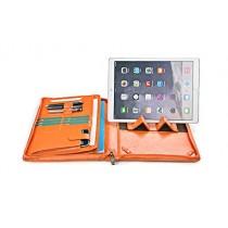 iCarryAlls Padfolio Organiseur Professionnel avec poignée pour 12.9 inch iPad Pro,Orange