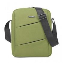 CoolBell MacBook épaule Messenger Bag mallette de transport avec poignée bandoulière Zipper pour iPad Air 2 / iPad Air / iPad 4 / iPad 3 / PC iPad 2 / iPad Samsung 10inch Tablet (Vert)