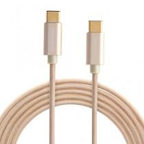 CableCreation USB 3.1 de type C à Type C Câble, Superspeed USB 3.1 Micro USB-C Homme à l'USB 3.1 C Type Homme Câble de connexion pour Apple Le Nouveau Macbook, Chromebook Pixel, Nokia N1 Tablet et plus, 6.5ft / 2M de couleur d'or