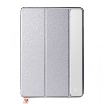 Oats® Coque - Apple iPad Mini 4 Etui Housse de Protection Flip Case Cover Bumper en aluminium - Argent
