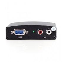 TBS®2210 Adaptateur HDMI vers VGA -Convertisseur HDMI mâle vers VGA femelle - Compatible avec ordinateur de bureau/portable, box tv, Ultrabook, lecteur DVD, Xbox, PS3/4, Apple TV, Macbook Pro, Chromebook, Roku, Intel Nuc, ou tout appareil disposant d'un p