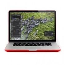 """Gmyle Coque rigide encliquetable en caoutchouc pour Macbook Pro 15,4"""" à écran Retina Effet givré transparent  - rouge"""