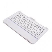 Étui de clavier avec touches blanches Cooper Cases (TM) Aluminium Buddy pour Samsung Galaxy Tab Pro 8.4 (T320 / 3G T321 / LTE T325) Bluetooth 4.0 (très mince, très léger, métal brossé, encastré, 61 touches, capacité de la batterie 55 heures)