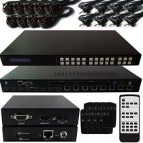8 x 8 HDBaseT Lite HDMI Matrix Kit 1080P 3D 4Kx2K -IR Routing- Veuillez-Boîte de Distribution e-mail pour plus d'informations
