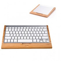 eimolife ® plus récent naturel bambou MacBooks MAGIC TRACKPAD Protector + Support de clavier Bluetooth ordinateur clavier pied