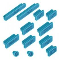 """kwmobile 12x bouchons de protection anti-poussière pour Apple MacBook Pro 13"""" 15"""" Retina / Air 11"""" 13"""" (à partir de mi 2011) en bleu"""