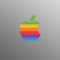 Rétro logo d'Apple autocollant autocollant pour 13 15 17 pouces Apple MacBook / Pro / Air Laptop