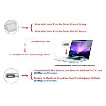 "Lizone® Magsafe DC câble pour MacBook Air, MacBook Pro, MacBook Laptops ""L"" DC-IN, Lizone Extra Pro Externe/Batterie DC-Port (Magsafe)"