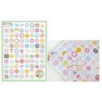 NOVAGO® 2 planches de mini stickers autocollants (noeud papillon+ tampon enveloppe) pour décorer vos smartphones, tablettes , PC, MacBook , agenda , mug ou autres objets