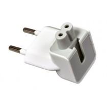 Chargeur secteur fiche secteur, embout de fiche UE Duckhead deux broches adapteur pour Apple Power Adapter pour iPhone iPod iPadMac