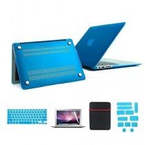 se7enline coloré en caoutchouc soft touch givré Coque rigide pour MacBook, avec sac souple manches et protection clavier en silicone et film protecteur d'écran LCD transparent et prise de la poussière