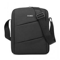 CoolBell MacBook épaule Messenger Bag mallette de transport avec poignée bandoulière Zipper pour iPad Air 2 / iPad Air / iPad 4 / iPad 3 / PC iPad 2 / iPad Samsung 10inch Tablet (Noir)
