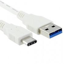 ShineZone Tpye C Câble pour MacBook 12, Haute-Vitesse, Transférer les Données Câble Type C (USB-C) vers USB 3.0 1*Mètre (Blanc)