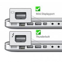 Mini display port vers vGA adaptateur convertisseur dP vers vGA pour macBook pro air appareils mac blanc)