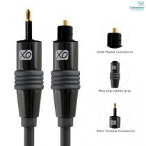 Câble numérique XO Séries Premium Install Mini-TosLink vers optique 5m / 5 mètre(s) - compatible pour PS3, PS4, XBOX One, Macbook Pro, iMac, Mac Mini, lecteurs MiniDisk et MP3, systèmes home-cinéma, amplificateurs AV.