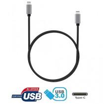 tinxi® High Speed USB 3.1 Type C Male to USB 3.1 Type C Male Data Sync & Câble de charge pour Apple Macbook et autres dispositifs supportés par Type C, Connecteur en métal nickelé, 1 mètre