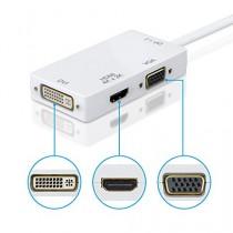 [DP V1.2 Version/4Kx2K]VicTsing Mini DisplayPort Thunderbolt vers HDMI VGA et DVI TV HDTV Video Converter chaînes du câble