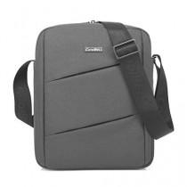 CoolBell MacBook épaule Messenger Bag mallette de transport avec poignée bandoulière Zipper pour iPad Air 2 / iPad Air / iPad 4 / iPad 3 / PC iPad 2 / iPad Samsung 10inch Tablet (Gris)