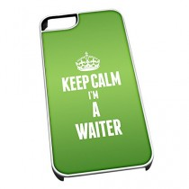 Coque pour iPhone 4/4S Inscription Keep Calm I'm a vert 2712 Serveur