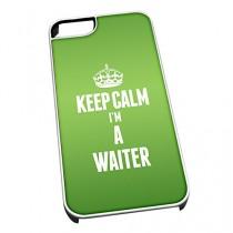 Coque pour iPhone 4/4S Inscription Keep Calm I'm a vert 2712Serveur