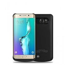 Heliomax 4200mah Batterie externe housse coque Noir power bank case battery pour Samsung Galaxy S6 Edge + S6 edge+ S6 edge plus +