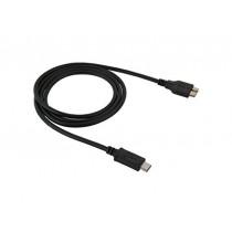 Fone-Stuff USB 3.1 de type C à Micro-B Data Sync Cable Parfait pour la synchronisation à Apple Nouveau 12 pouces Retina MacBook, Chromebook Pixel 2015 Édition et autres périphériques USB 3.0 Type-C Devices 1m - Noir